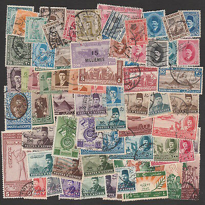 Egypt 1920-1953 Large Selection Of Stamps Including Higher Values (70)