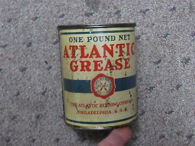 Antique Alantic Grease Can