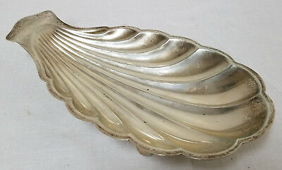 Antique Vintage Sterling Silver Gorham Shell Dish Clam Crustacean Footed