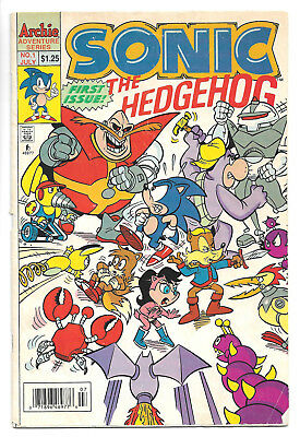 Sonic the Hedgehog #1 - Archie Comics GOOD condition 2.0 reader copy