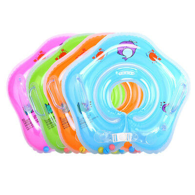 Tube Aids Baby Bath Adjustable Inflatable Float Ring Swimming Pool Neck Safety