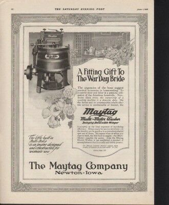 1918 Maytag Mull Washer Machine Household Appliance Ad 9567