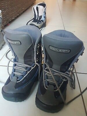 kids snowboard boots ocean and earth bargain