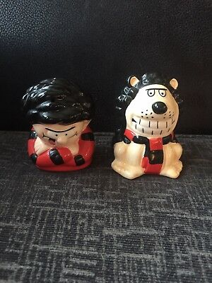 Collectable Beano Dennis And Gnasher Pots Pepper Salt Dated