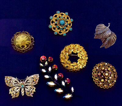 Collection of beautiful Brooches (Lot of 7)