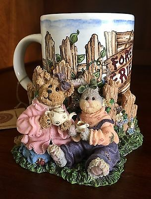 """The Boyds Collection """"Amanda and Carly...Forever Friends"""" Mug and Coaster New"""