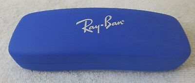 Ray-Ban Junior Blue Hard Shell Sunglasses Case Red Interior Unisex Style Exc!