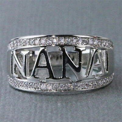 NANA Ring Size 5-11 Grandmother Ring Zirconia Crystal Finger Ring Jewelry Nice