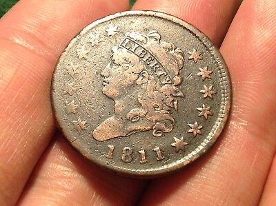 1811 Classic Head Large Cent #3   LOW MINTAGE KEY DATE!  STRONG DETAIL!   L@@K!