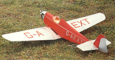 """Model Airplane Plans (RC): Texaco Dart Kitten II Scale 45½""""ws for 1/2A Engine"""