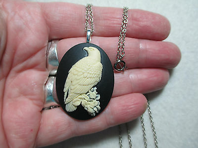 Hawk, Eagle, Falcon, Raptor Necklace, New, Handmade, Lovely Perched Bird