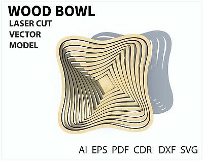 FILE DXF CDR EPS AI SVG for Laser Cut or CNC ROUTER Pattern bowl