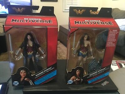 "Set of 2 -DC COMICS MULTIVERSE--"" WONDER WOMAN FIGURES 6 inch"