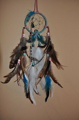 "Dreamcatcher--3"" Cancer Awareness Dreamcatcher w/charm chain drop"