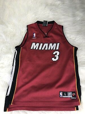 new product 95250 f4979 Reebox Dwyane Wade Miami Heat Jersey #3 Size Large 14-16