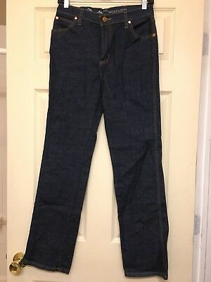 d1d8d71f Wrangler Modcloth Women's Collaboration Wide Leg Whim Flare Dark wash Jeans  NWOT