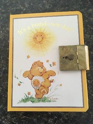 Vintage Care Bears One Year Diary Journal Sunshine Bear NOS