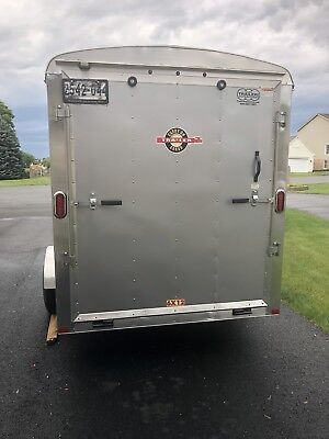 2014  6 x 12 Enclosed Cargo Trailer Ramp & Side Door