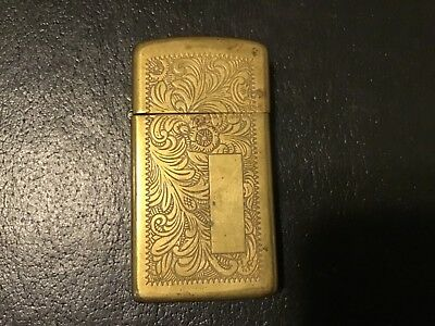 Collectible ZIPPO Cigarette Lighter Brass with scrolled Engraving