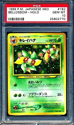 1999 Pokemon Japanese Neo 182 Bellossom Holo - GEM MINT PSA 10