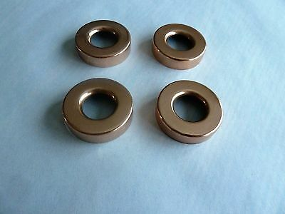 """Four Small  1 1/4"""" X 5/8""""  Copper Lightning Rod Ball Caps"""