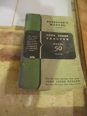 John Deere Tractor Model 50 Series Manual