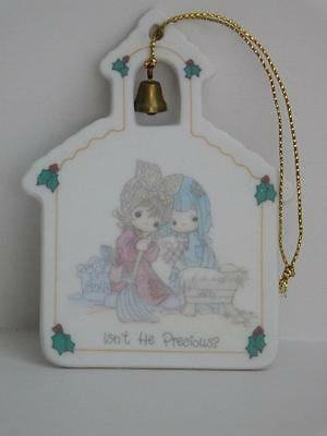 """Precious Moments Christmas Ornament """"Isn't He Wonderful"""" 1992 Pre-owned PM-19"""