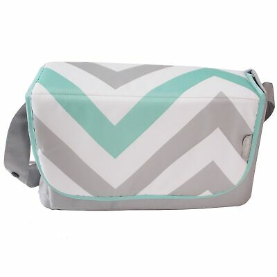 My Babiie Baby Changing Bag / Mat For Stroller / Pram / Pushchair - Mint Chevron