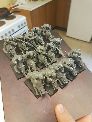 Warhammer age of sigmar orruk boar riders x 15 - some hands missing! See photos
