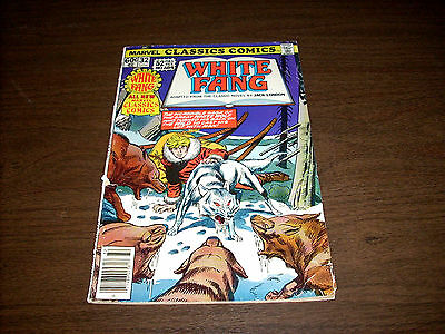Marvel Classics Comic Book White Fang Adapted From Novel Jack London 1977