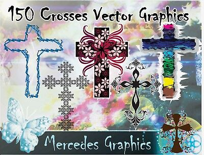 150 Crosses Vector Clipart