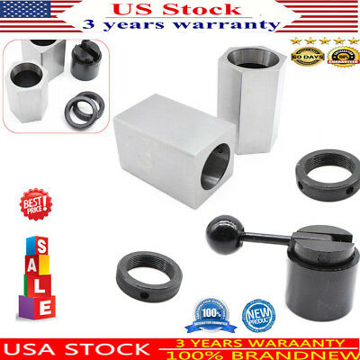 5C Collet Block Chuck Set Hex or Square/Rings Lathe Collecy Closer Holder Silver
