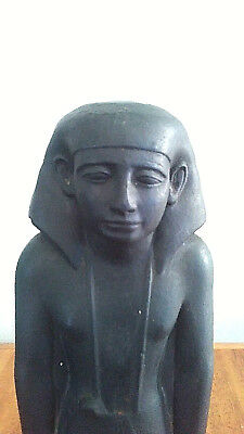 Museum replica of Ancient Egyptian Padiiset Statue 17 in tall Walter Art, Rare!