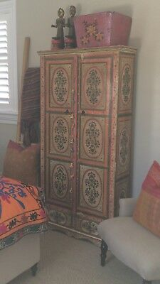 Indian handpainted cabinet from Ruby Start Trader perfect Bo Ho Interior look