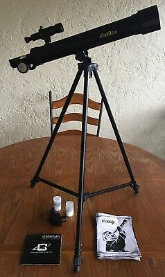 Galileo 500mm X 45mm Day/Night Refractor Telescope, Black G-545