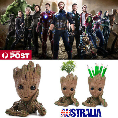 16CM Guardians of The Galaxy Baby Groot Figure Flowerpot Pen Pot Toy Party Gifts