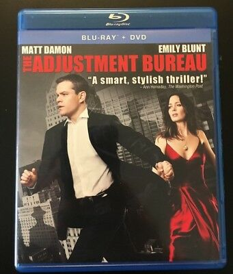 ADJUSTMENT BUREAU (Matt Damon / Emily Blunt / Anthony Mackie) Blu-ray with Case!