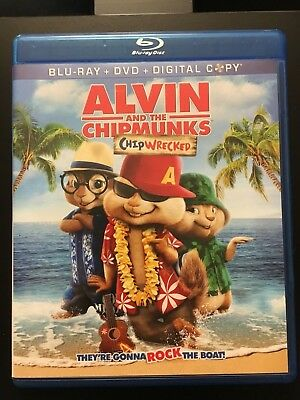 ALVIN AND THE CHIPMUNKS CHIPWRECKED     Blu-Ray +DVD Movie with Case!!!