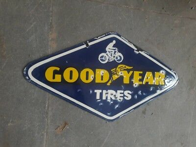 Porcelain Goodyear Tires Enamel sign 10 X 18 Inches