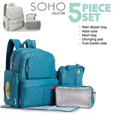 SOHO Multifunctional Baby Diaper Nappy Changing Bag Mummy Maternity Backpack