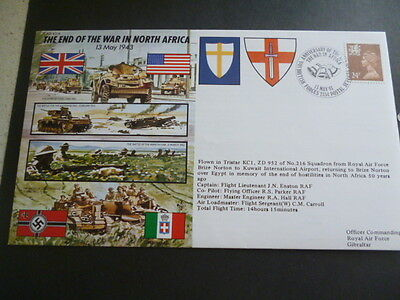 World War 2 50th Anniversary 1993 fdc The  End Of The  War in North Africa