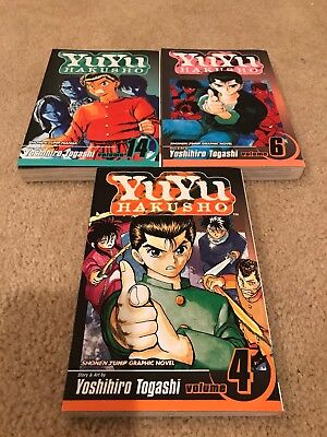 Yu Yu Hakusho Lot Books  (Vol 4 6 14)  Mangas by Yoshihiro Togashi  Novels A003