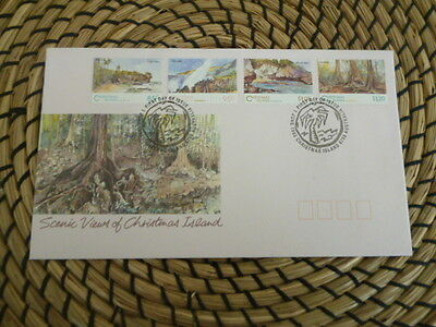 Christmas Island 1993 fdc scenic views of Christmas Islands