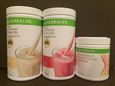 2 x Herbalife F1 & 1 x F3 – Personalised Protein Powder (240g)