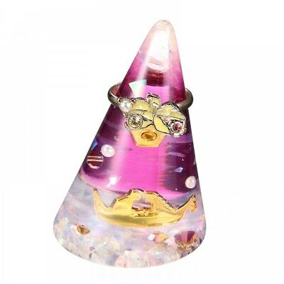 New Disney Store Japan Rapunzel cone type with ring and ring stand F/S