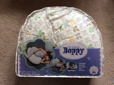 BNIP Chicco Boppy Cuddle Pillow with Removable Cotton Silverleaf Cover