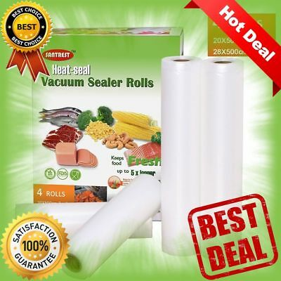 Vacuum Sealer Rolls BPA Free FDA Approved Cuttable Vacuum Sealing Cylinder NEW