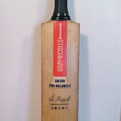 Vintage Gray Nicolls GN500 Pro Balanced QUAD SCOOP Cricket Bat - IAN CHAPPELL