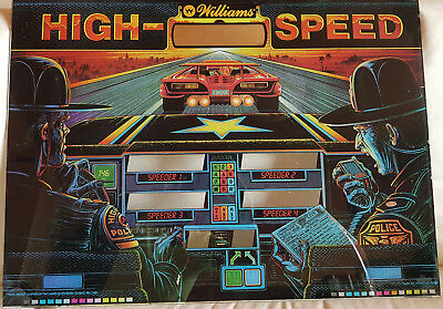 HIGH SPEED Flipperscheibe Backglasses Displayscheibe