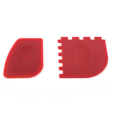 Lodge Durable Grill Pan Scrapers Red  2 Pack Dishwasher Safe
